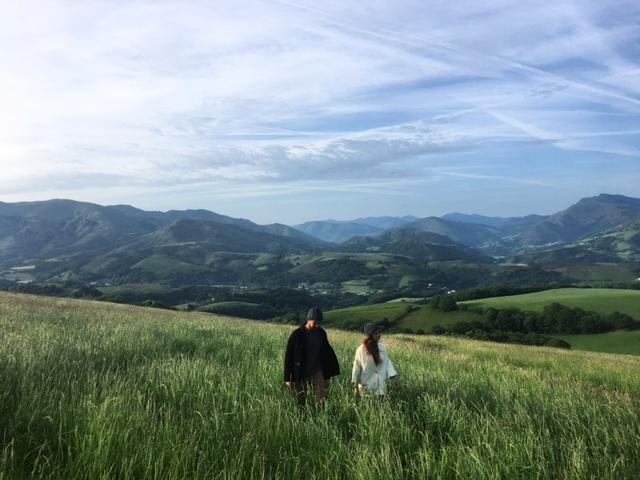 Bonnets portés dans les montagnes basques.
